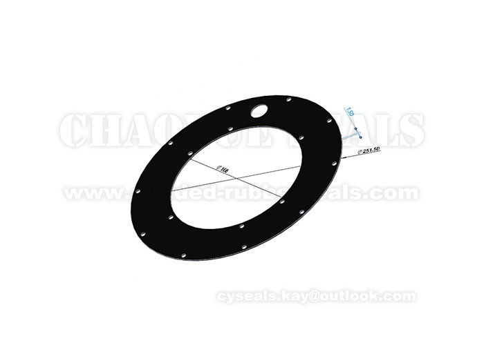 1.5 Mm DOT 4 Brake Round Rubber Gasket Oil Resistance Black EPDM Gasket