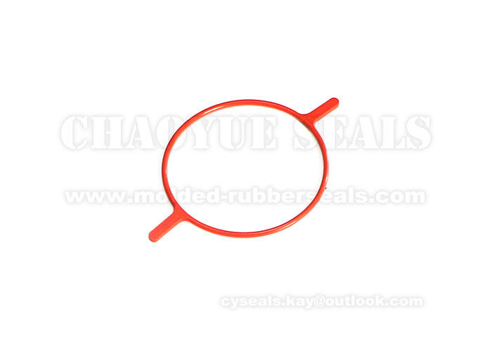 Orange EPDM Rubber Gasket Washer Seal Nonstandard Irregular Shaped 2mm Cross