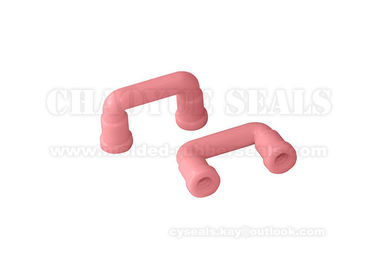 Double Blend Pink Silicone Rubber Tube Hose Chemical Resistant Inner Diameter 6 Mm