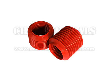 Red Color Silicone Bellows Fluid Equipment Shrink Range 104 Mm 160mm Length