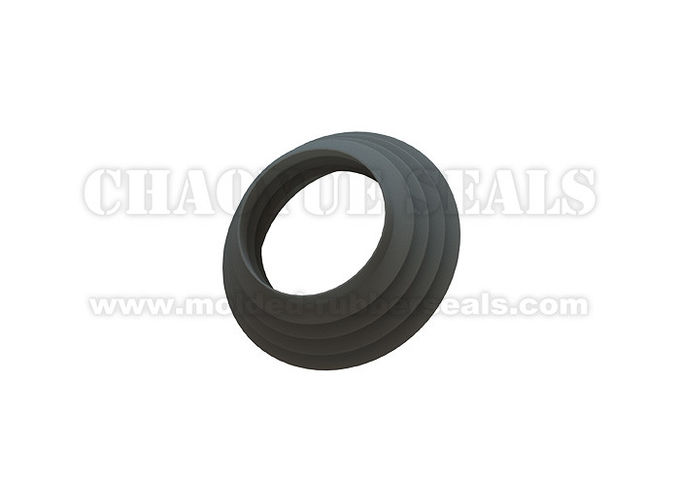 Customized 160 - 200 Mm Black Nitrile Buna-N  Rubber Bellow Seal For Papermaking Equipment